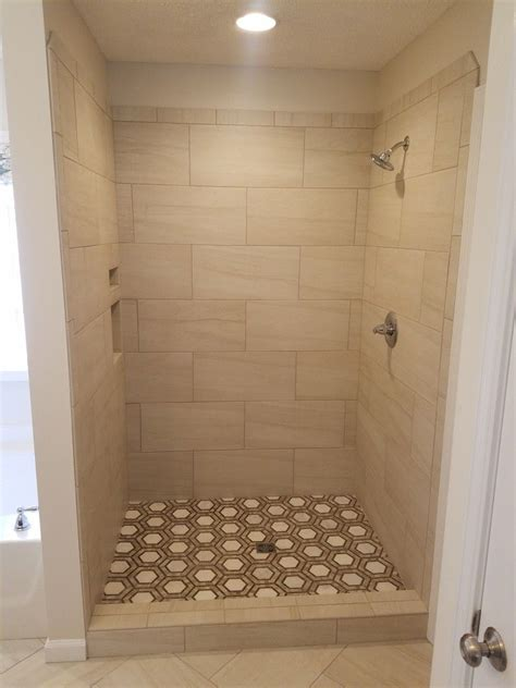 1 Hex Floor Tile - hex floor tile in a shower with a 12x24 1 2 offset shower