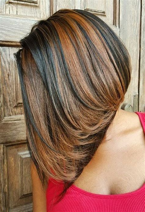 partial caramel highlights sew hot 40 gorgeous sew in hairstyles beautiful bobs