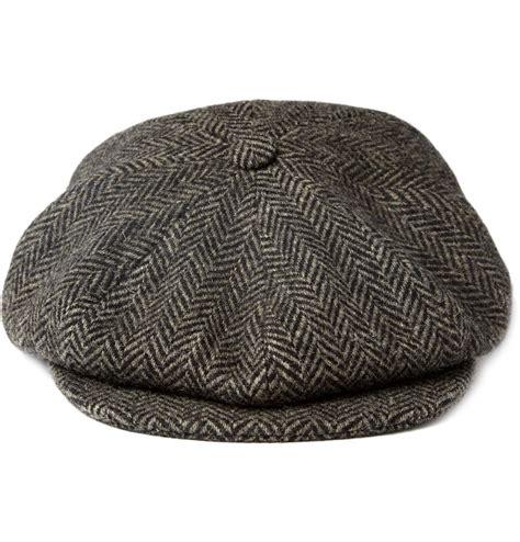 Wool Caps paul smith shoes accessories herringbone wool flat cap