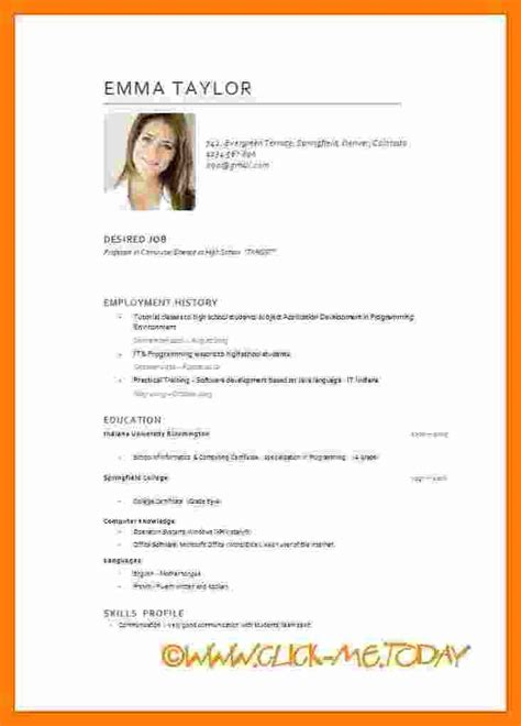 Modele Cv Pour Word by 8 Cv Model In Theorynpractice