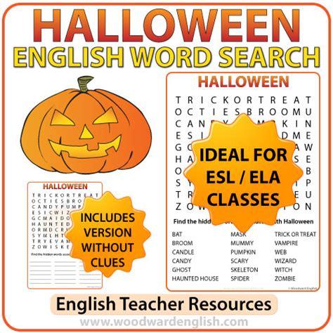 halloween themed words halloween word search in english woodward english