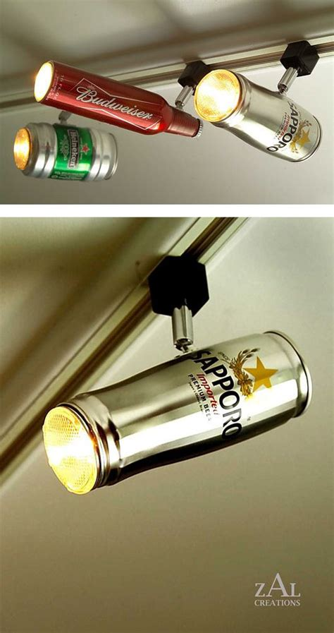 man cave light fixtures lighting fixtures from recycled cans whatever lights up