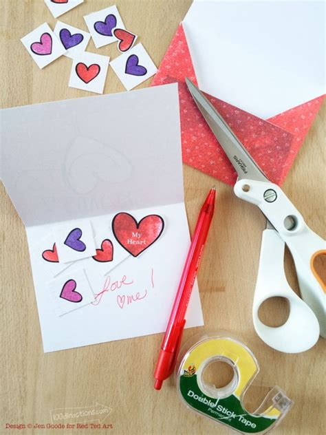 make your own valentines card for free make your own card free printable ted