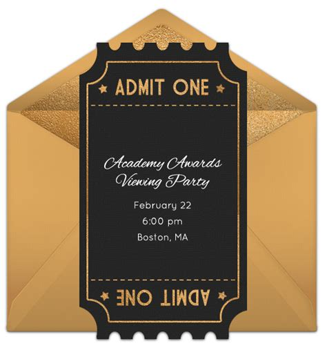 academy awards printable themed card template and the oscar goes to