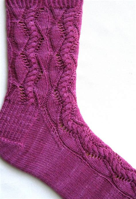 lace pattern for knitted socks knit sock pattern cable lace waves sock knitting pattern