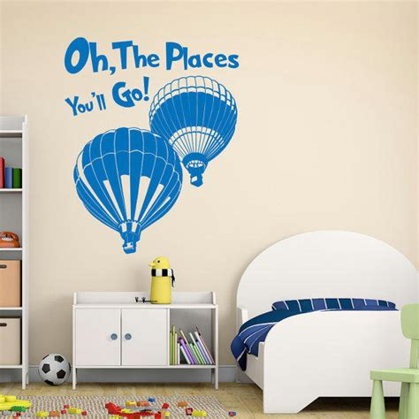 Dr Seuss Nursery Wall Decals Wall Decal Best Of Oh The Places You Ll Go Wall Decal Dr Seuss Wall Decorations Cat In The Hat