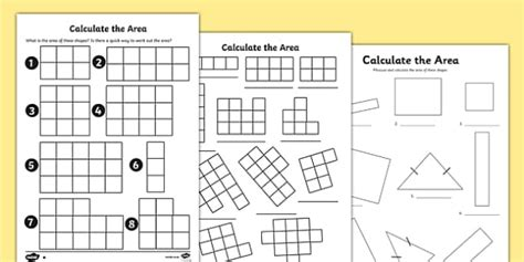 printable area c calculate the area worksheets area worksheet calculate
