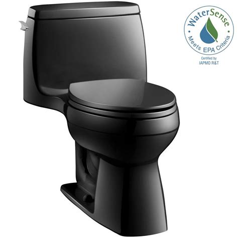 black toilet kohler santa rosa comfort height 1 1 28 gpf single