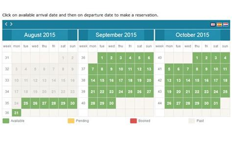 Availability Booking Calendar Calendar Booking System Phpjabbers Reservation Calendar Template