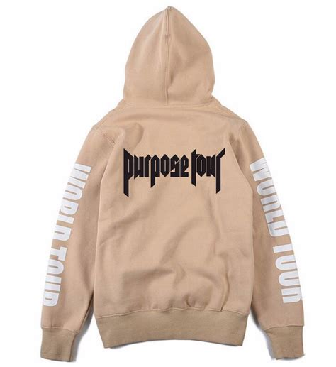 Jaket Hoodie Purpose Tour Justin Bieber 2 casual justin bieber purpose tour 2016 hoodie fleece