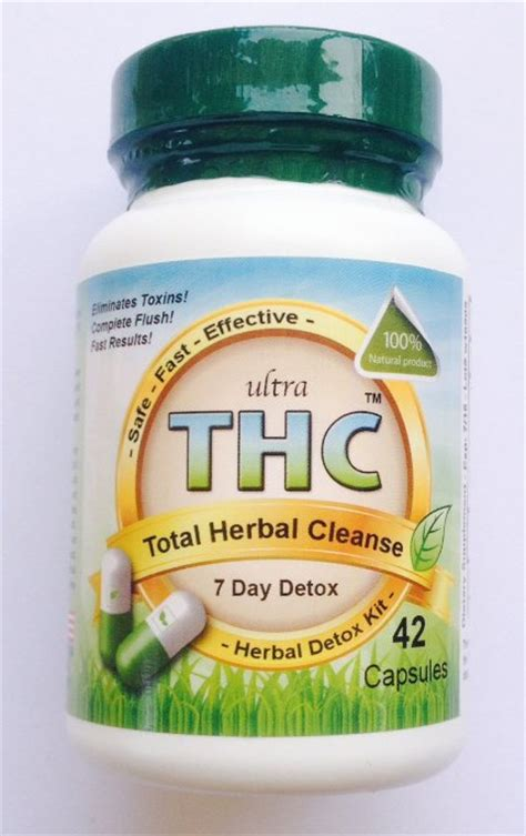 Flush Detox Thc by Buy Total Herbal Cleanse Detox Capsules 7 Day Complete
