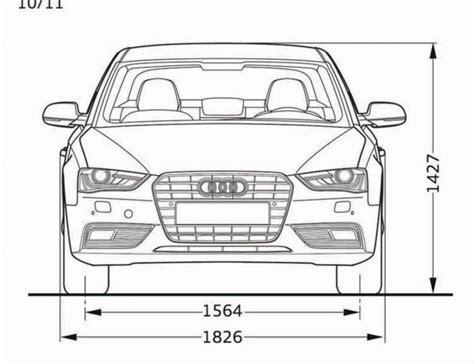 Audi A4 Avant Abmessungen by Audi A4 B8 Abmessungen Technische Daten L 228 Nge