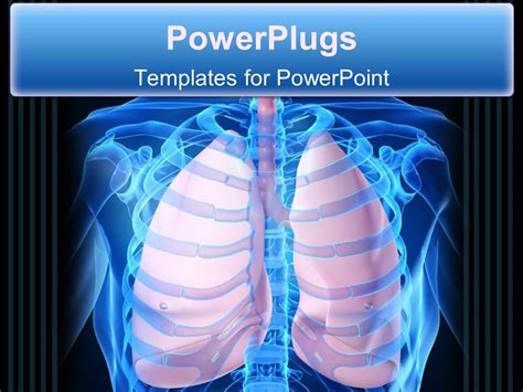 powerpoint themes lungs powerpoint template close up scan of human skeleton