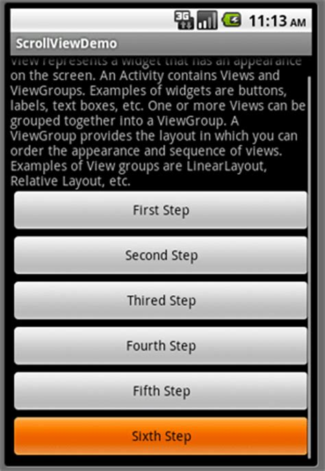 android scrollview microsoft technologies data working with scrollview in android or monodroid