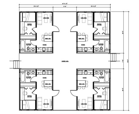 quad plex plans isbu quad r one studio architecture