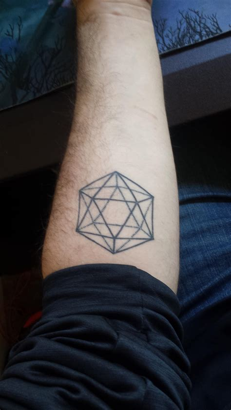d20 tattoo my d20 had it for a year now and i still