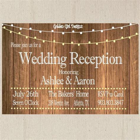 Rustic Wedding Reception Invitation Wording