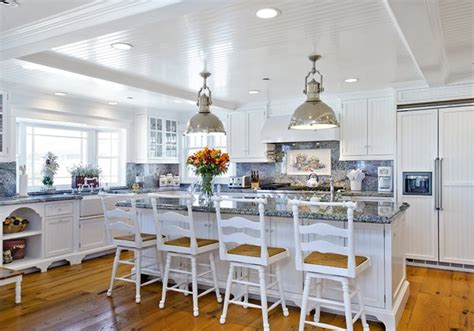 Kitchen Island With Seating Area Beach House California Dreamin In Ocean Blue Amp White