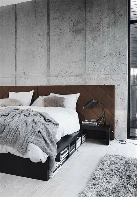 grey wallpaper masculine interior design pinspiration the minimalist concrete