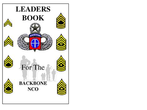 army leaders book template army nco leadership quotes quotesgram