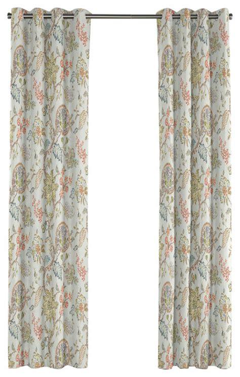 floral grommet curtains delicate aqua blue floral grommet curtain traditional