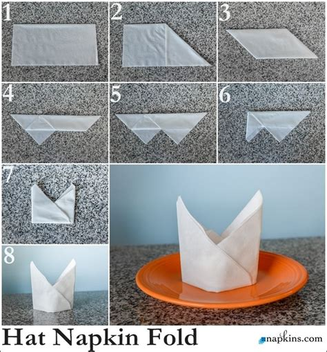 Easy Napkin Origami - bishop hat napkin fold how to fold a napkin