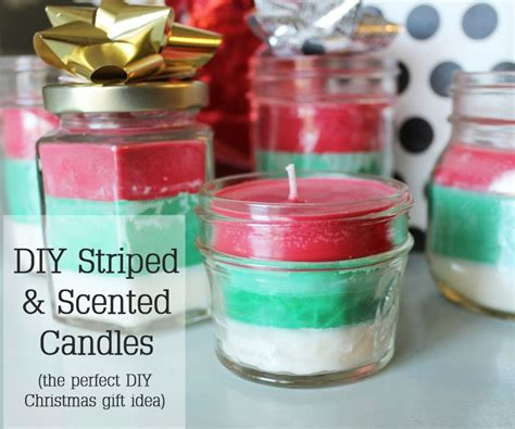 diy christmas gift idea striped multi scented christmas