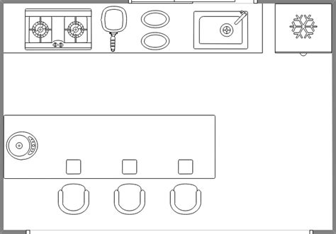 exemple plan de cuisine symboles pour plan de construction cuisine et salle de bains