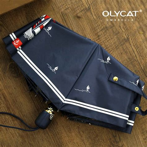 sailboat umbrella olycat women automatic umbrella sunscreen sailboat style