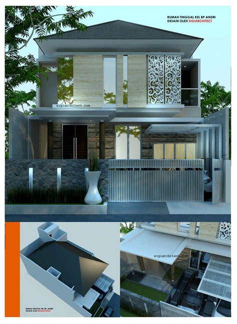 desain rumah modern minimalis 2 lantai bp andri denah