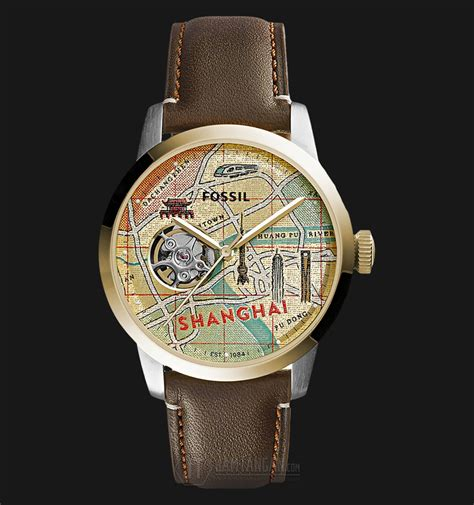 Jam Tangan Fossil Limited Edition Gazer Le 1045 fossil le1037set automatic townsman shanghai brown leather limited edition jamtangan