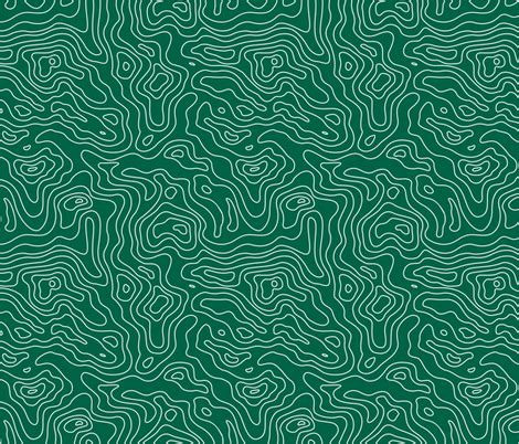 fabric pattern map forest green and white stripes wave elevation topographic