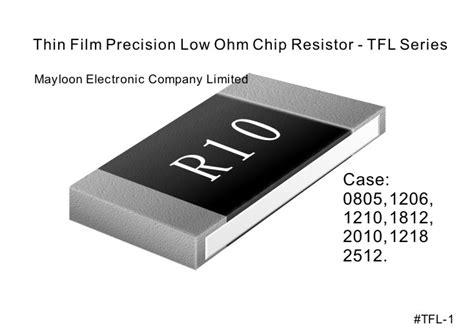 precision thin chip resistors chip resistor thin low ohm tfl