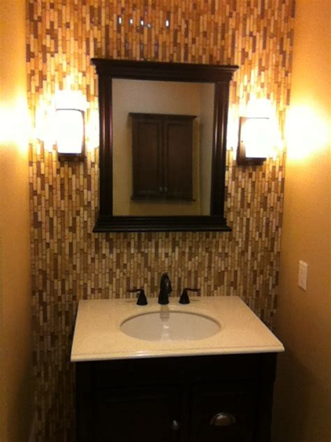 powder room backsplash ideas vertical tile backsplash in bathroom by milwaukee tile and
