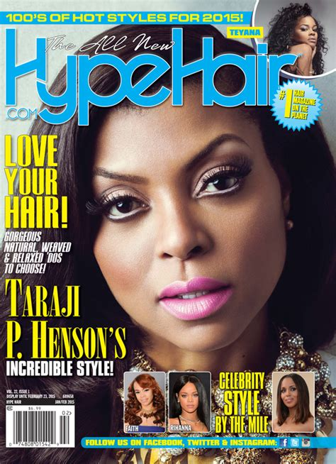 weaving hair magazine pictures taraji p henson covers hype hair s february 2015 issue