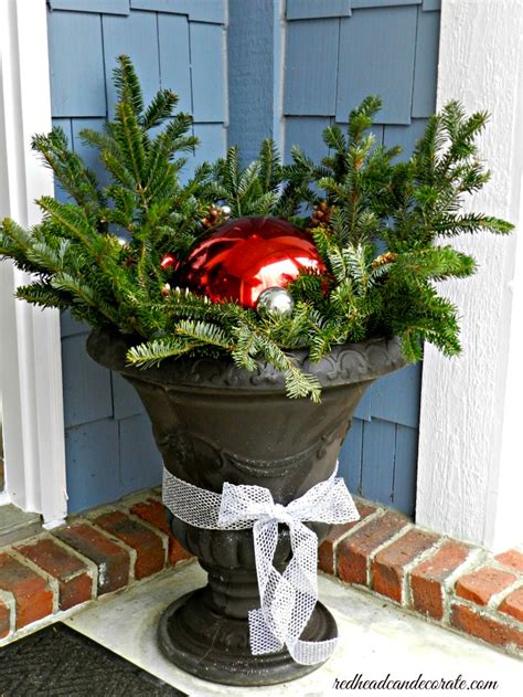 Urn Decorations by Front Porch Can Decorate