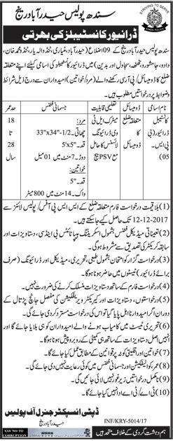 pattern making jobs in hyderabad jobs in sindh police hyderabad range 03 12 2017 noticeboard