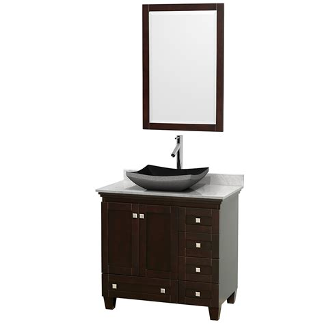 36 Inch Bathroom Mirror Wyndham Collection Wcv800036sescmgs1m24 Acclaim 36 Inch Single Bathroom Vanity In Espresso