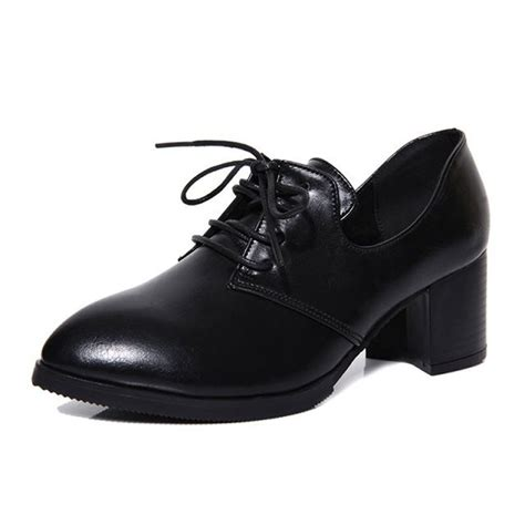 chunky oxford shoes vintage brogues oxfords pumps chunky heels