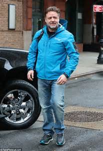 Cool Shed russell crowe steps out in new york in thermal jacket and