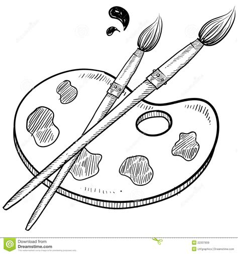 Sketches To Paint by Black And Whiteclipart Artist Painting Clipart Clipart