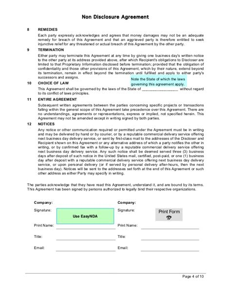 ncnd agreement template donation pledge card template donation sle pledge