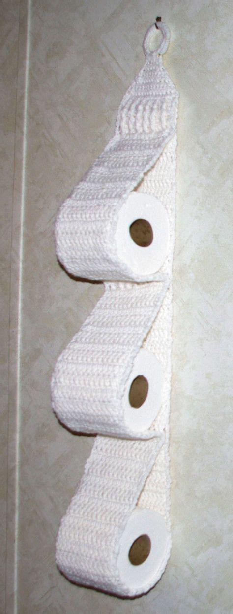 pattern paper roll holder hanging three roll toilet tissue holder free crochet