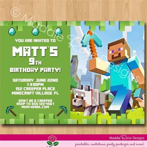 minecraft happy birthday card template printable minecraft happy birthday card printable free