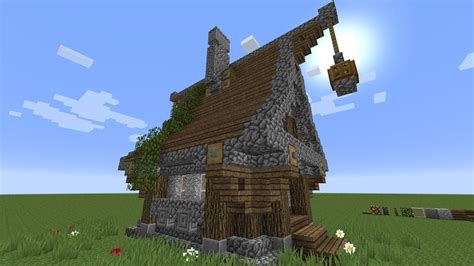 medieval house minecraft minecraft how to build a very simple medieval house youtube