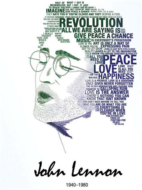 Tipografi Lennon 50 creative typographic portraits