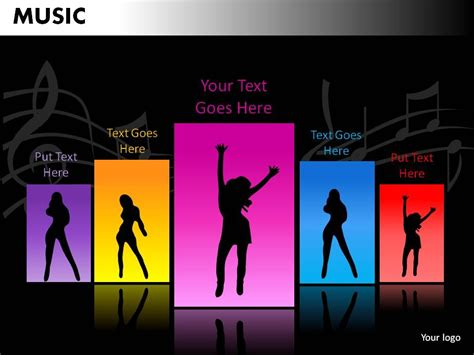 ppt themes dance music powerpoint presentation slides