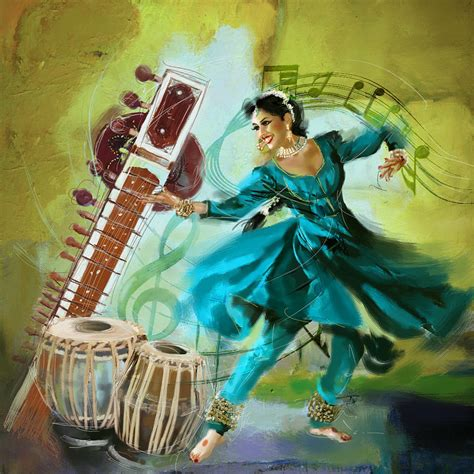 Home Decor Blogs India by Kathak Dancer 4 Painting By Catf