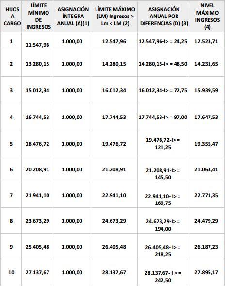 tabla nomenclador discapacidad 2015 ayuda por nacimiento o adopci 243 n de hijos asociaci 243 n