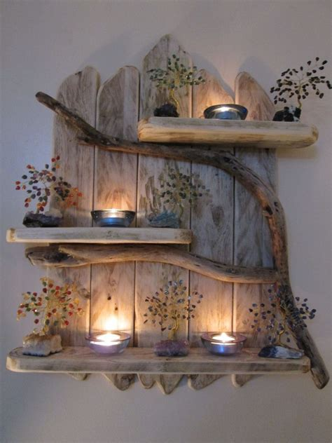 shabby chic rustic furniture charming genuine driftwood shelves solid rustic